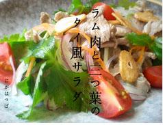冷え症レシピ ラム肉と三つ葉のタイ風サラダ