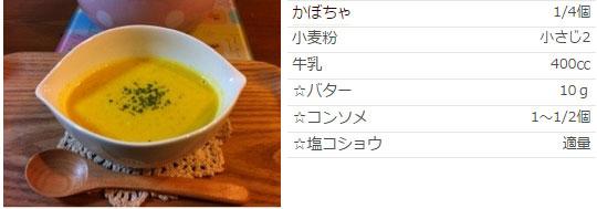 冷え症レシピ 牛乳でかぼちゃスープ