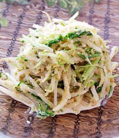 水菜ともやしのゴママヨサラダ レシピ