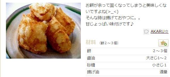 カリカリ揚げ餅 レシピ