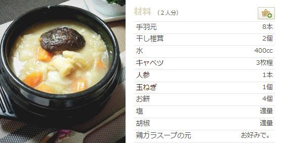 手羽元キャベツとお餅の煮込み レシピ
