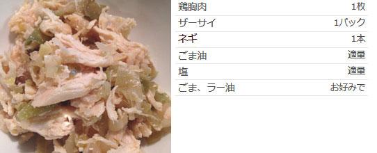 鶏胸肉とザーサイのおつまみ 作り方
