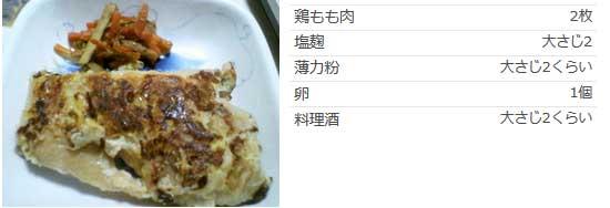 鶏モモ肉の塩麹ピカタもどき