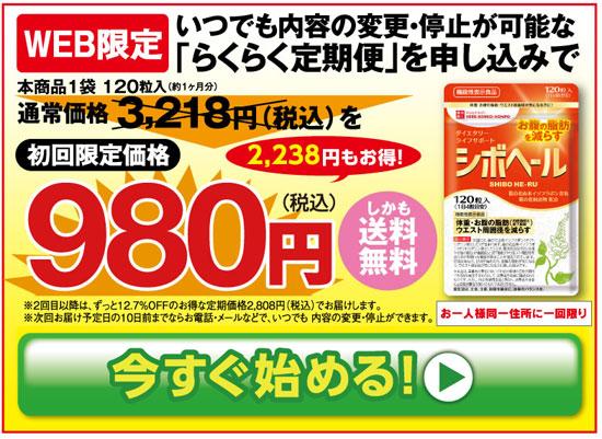 シボヘール 980円